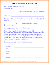 Sample Roommate Contract 13 Rent A Room Contract Resume Pictures