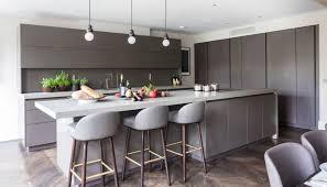 contemporary kitchen stone wood veneer island villa london