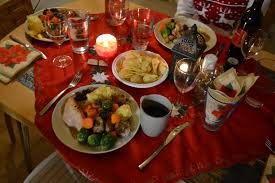 christmas dinner table with food food friday recipes