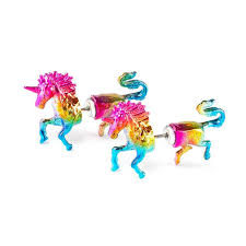 front and back earrings s unicorn front and back stud earrings s animal jewelry