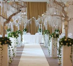 Party Chandelier Decoration Acrylic Crystal Beads Chain Hanging Bead Curtain Garland Flowers
