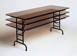 standing height folding table alluring correll tables of inc melamine folding home gallery idea