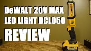 dewalt 20v area light dewalt 20v max led area light dcl050 review youtube