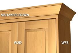 Cabinets With Crown Molding 2 Piece Shaker Crown Molding With Backer