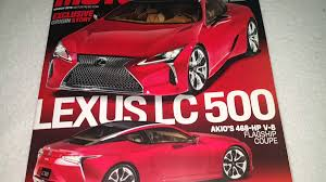 lexus lc 500 review motor trend motor trend magazine march 2016 lexus lc 500 akio 468 hp v8 coupe