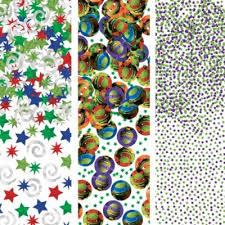 tmnt wrapping paper mutant turtles confetti 1 2oz party city