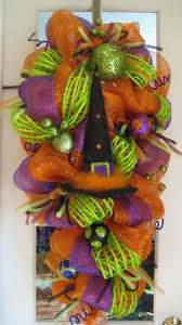 Deco Mesh Halloween Wreath Ideas by 466 Best Halloween Wreaths Images On Pinterest Halloween Crafts