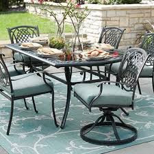 outdoor iron table and chairs metal patio furniture sets pieces the home depot