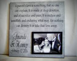 wedding gift from parents custom wedding thank you gift for parents 12x12 parent of the