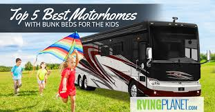 Class A Motorhome With 2 Bedrooms Top 5 Best Motorhomes With Bunk Beds For The Kids Rvp