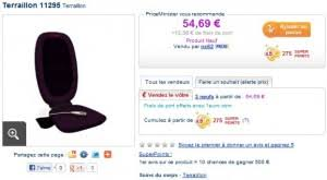 siege massant auchan le moins cher siege massant teraillon shiatsu a seulement 54 69 euros
