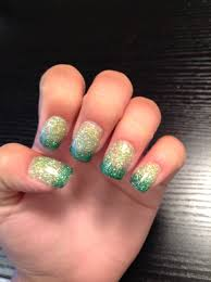 tinkerbell inspired green ombré acrylic nails nail ideas