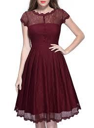 miusol women u0027s retro floral lace cap sleeve vintage swing