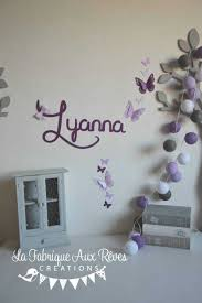 decoration chambre fille papillon stickers pranom fille violet parme mauve inspirations avec