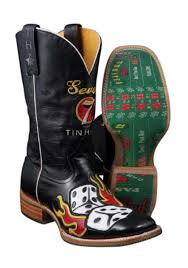tin haul boots s size 11 tin haul flaming 7 11 dice boots with craps table sole cowboy