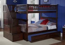 amazon com columbia staircase bunk bed with trundle bed full