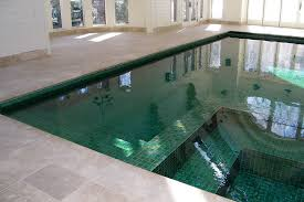 indoor pool with custom tile residential warren pool design by
