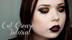 black u0026 orange cut crease smokey eyes halloween tutorial youtube
