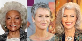 19 gray hairstyles u0026 haircuts pictures of gray hair on celebrities