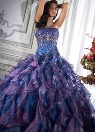 blue and purple wedding and purple wedding dress