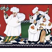 Chef Decor Collection Italian Fat Chef Kitchen Decor Wall Stickers Peel And Stick