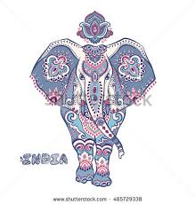 vector ethnic elephant hamsa elephant stock vector 491046805
