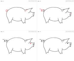 how to draw a pig step by step how to draw pig for kids step step