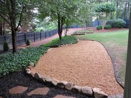 decor u0026 tips gravel backyard with pea gravel and herb garden also