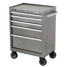 home depot tool cabinet husky 27 in w 5 drawer tool cabinet metallic silver h5tr2leg the