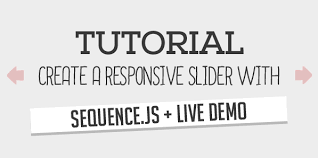 javascript tutorial demo tutorial create a responsive slider with sequence js live demo