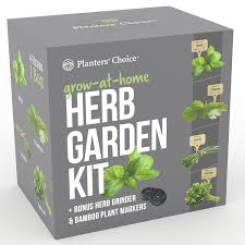 amazon com planters u0027 choice organic herb growing kit herb