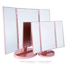 tri fold mirror with lights tri fold lighted mirror mirror designs