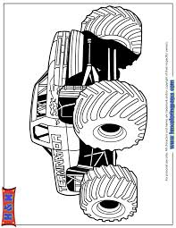 terminator from monster truck show for boys coloring page h u0026 m