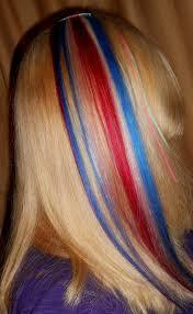 one hair extensions w o n d e r woman one hair extension white blue