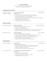 what should i write my college about resume help military