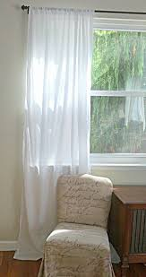 Cotton Drapery Panels White Cotton Batiste Curtain Custom Order One Panel