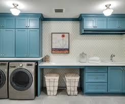 Laundry Room Cabinets With Hanging Rod Laundry Room Design Ideas Brown Interiors