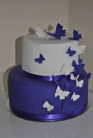 Purple And White Butterfly Wedding Cake Cakecentral Com