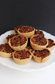 thanksgiving chocolate mini bourbon chocolate pecan pies