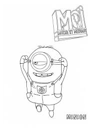 picture jumping minion despicable coloring netart