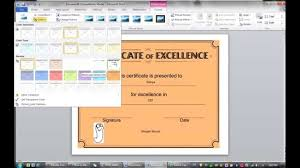 how to make a certificate template in microsoft word 2010