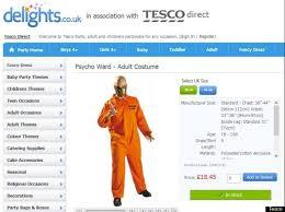 Patient Halloween Costumes Asda Tesco Pull U0027mental Patient U0027 U0027psycho Ward U0027 Halloween