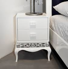 silver side table uk high gloss luxury luxus bedside table with silver leaf luxury