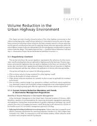 chapter 3 volume reduction in the urban highway environment