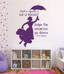 girls room wall decals vinyl stickers for kids disney wall decals mary poppins disney home decor purple