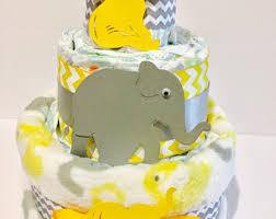 yellow diaper cake etsy