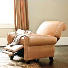 Paris Leather Recliner Comfy Gorgeous Color Called Almond - Ballard design sofa