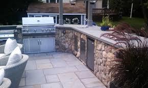 kitchen outdoor kitchen countertop materials design ideas modern