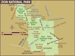 map of zion national park map of zion national park