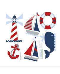 Nautical Nursery Wall Decor by Nautical Wall Mural Removable Vinyl Stickers Ocean Themed Wall